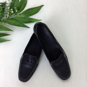 Cole Haan Black Pebble Grain Leather Loafers SZ 7